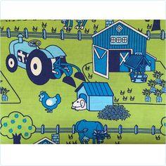 Smafolk Bettwäsche Retro Bauernhof grün JUNIOR - www.lolakids.de