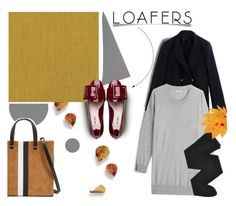 """""""Fall Footwear Trend: Loafers"""" by pattykake ❤ liked on Polyvore featuring Miu Miu, MaxMara, Gerbe and Clare V."""