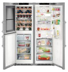 Liebherr SBSes 8486 Side-By-Side Kühl-Gefrierkombination Top Freezer Refrigerator, French Door Refrigerator, Küchen Design, Google Shopping, Bathroom Medicine Cabinet, Kitchen Appliances, Home, Water Dispenser