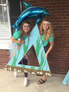 Tri Delta Zeta under the sea bid day 2015