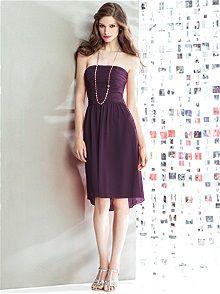 Dessy.com Social Bridesmaids Style 8136 Color: aubergine
