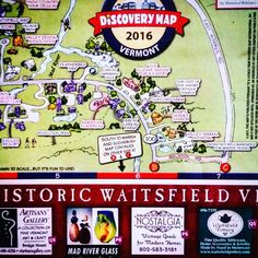 I did a little happy dance when I got to the shop. My first real advertising! Front and center! #waitsfield #madrivervalley #vermont #vt #antiques #collectables #vintage #discovery #discoverymap