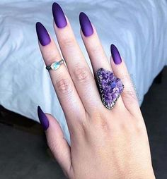 Nail trends you should try at your next appointment #purplenails