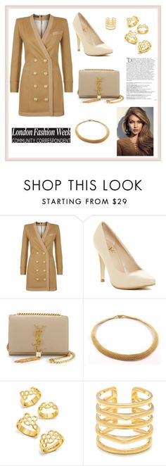 """""""THEM GIRLS BE LIKE"""" by bb-rodrigues on Polyvore featuring moda, Balmain, Versace 19•69, Yves Saint Laurent, Tiffany & Co., BaubleBar e Stella & Dot"""