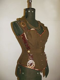 MADE TO ORDER Steampunk corset by LyndseyBoutique on Etsy, £270.00