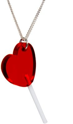 How cute is this red heart lollipop Lolita necklace!