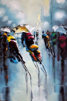 Harold Braul Commuter Series Oil on Canvas 48x30