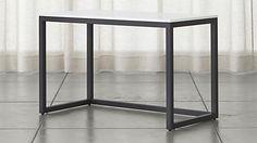 Finn White Top Desk with Black Base