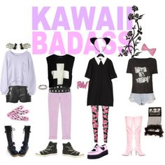 A fashion look from February 2012 featuring StyleNanda, cropped sweater and pink shirt. Browse and shop related looks. Pastel Punk, Pastel Goth Fashion, Lolita Fashion, Pastell Goth Outfits, Cute Fashion, Fashion Outfits, Fashion Ideas, Goth Look, S Girls