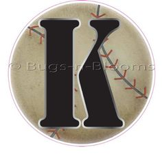"""K"" Baseball Alphabet Letter Name Wall Sticker - baby nursery boys sports room decor baby nursery boy sport room decor decoration decorations mural stickers bedroom $3.95"