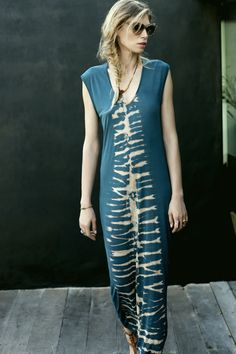 Rabens Saloner Spine Long Tie Dye T-Dress @Holly Elkins Hallberg from Huset-Shop