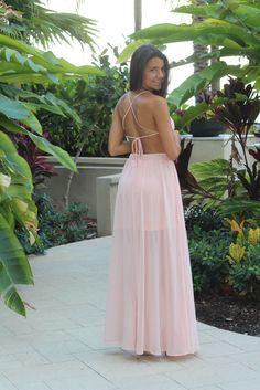 Light Pink Lace Maxi Dress   Light Pink Maxi Dress – Saved by the Dress