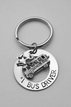 Bus Driver key chain  Bus Driver gift  School by LauriginalDesigns, $24.00