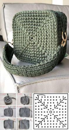 Escolha e copie: 18 Modelos de bolsa Summer Bag ⋆ De Frente Para O Mar – crochet/ knitting – Home crafts Crochet Handbags, Crochet Purses, Diy Crochet Bag, Crochet Hats, Crochet Amigurumi, Crochet Summer, Free Crochet, Crochet Bag Tutorials, Crochet Patterns