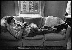 Kurt Vonnegut relaxing with Pumpkin ;-) #books BookLikes.com