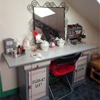 Coiffeuse bureau transformable fille blanc vertbaudet - Fabrication maquillage maison ...