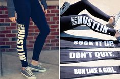 Make a statement in our Work-Out-Word Leggings! The perfect balance between fitness and style!