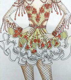 No photo description available. Samba, Fairytale Fashion, Festival Costumes, Bebe Rexha, Ballet Costumes, Irish Dance, Dance Fashion, Costume Design, Beauty And The Beast