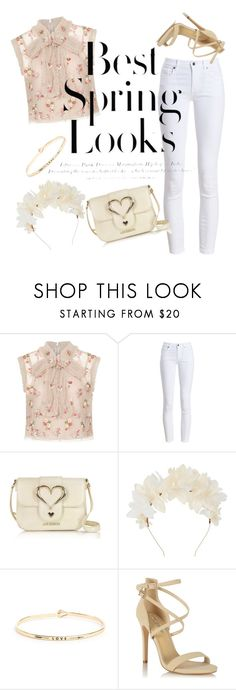 """""""Pastel spring"""" by sylvania-dark on Polyvore featuring Needle & Thread, Barbour, Love Moschino, Lizzie Fortunato, South Moon Under, Miss Selfridge, H&M, Flowers, flowerpower and springandsummer"""