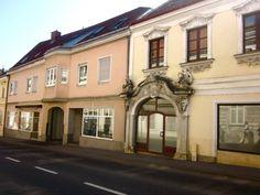 colorful facades in Eisenstadt, Austria