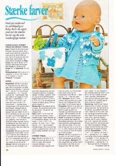 "Photo from album ""Одежда для Baby Born on Yandex. Crochet Dolls Free Patterns, Doll Sewing Patterns, Doll Clothes Patterns, Knitting Dolls Clothes, Knitted Dolls, Knitting Books, Baby Knitting, Reborn Dolls, Baby Dolls"