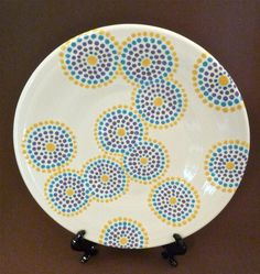 Dotty circles plate.