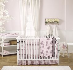 Enter to win the Pink Camellia Crib Bedding Set from @balboababy! #win #giveaway