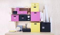 IKEA furniture and home accessories are practical, well designed and affordable. Here you can find your local IKEA website and more about the IKEA business idea. Ikea Storage, Small Storage, Locker Storage, Storage Hacks, Desk Accesories, Home Accessories, Ikea Yellow, Home Office, Home Storage Solutions