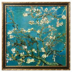 Almond Branches in Bloom - I would decorate an entire room around this pic.