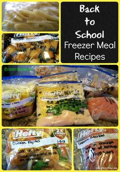 Back to School Freezer Meal Recipes that will save you time in the kitchen and money from your budget! #freezermeals