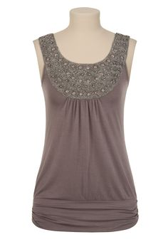 Bead and Lurex Thread Tank - Maurices | $29.00