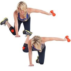 Inverted butt blaster | These dumbbell exercises from celebrity trainer Tracy Anderson are designed to work body parts in the most muscle-targeted, time-efficient way.
