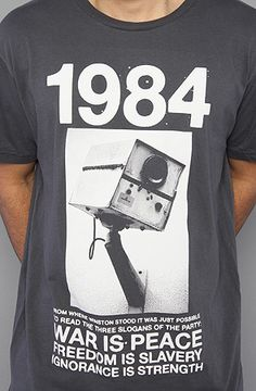 The 1984 Tee in Dark Gray ----> This is a cool shirt. The book was awesome, too.