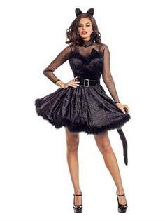Ladies Sassy Classy Kitty Costume - SpicyLegs.com