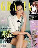 Kangana Ranaut on the Cover of Grazia Magazine June 2012 | Bollywood Cleavage