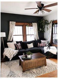 Boho Living Room, Living Room Sets, Home And Living, Living Room Designs, Small Living, Cozy Living Room Warm, Cozy Room, Living Room Inspiration, Home Decor Inspiration