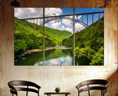 The New River Gorge Bridge West Virginia Large by CanvasConquest
