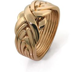 14K Gold UNISEX 7 band Puzzle Ring 7BDG