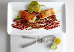 Confit Salmon with Rhubarb. An Unexpected Marriage. — Visually Delicious