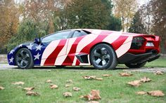 Hail to the Chief! Hopefully, Old Glory, however patriotic we are, is just a vinyl wrap.