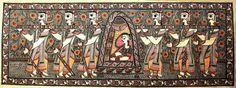 Madhubani Painting from Artists in Simri, Madhubani in Bihar, India.