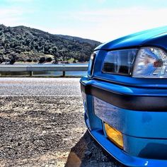 BMW E36 3 series blue slammed