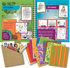 The Strathmore® Art Journal Kit designed by Artterro® is a place where kids can explore their creativity, learn fun drawing and collage techniques and use artist quality materials.  Learn more @ www.strathmoreartist.com