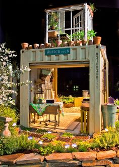 potting shed!