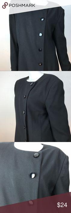 72560ef7215 Vintage liz claiborne button front sheath dress Size 12 black liz claiborne  from the 80 s tailored