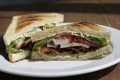Classic BLT gets upgrade with cider aioli. #BLTs #recipes
