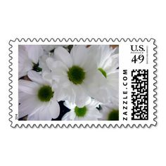 Custom Stamps Postage white Flower floral Postage Stamps