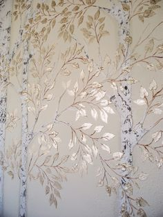 Discover thousands of images about Plaster Stencil Aspen Tree Tree Stencil For Wall, Stencil Painting On Walls, Wall Stenciling, Painting Trees On Walls, Damask Stencil, Tree Wall Decor, Wall Paintings, Faux Painting, Ceiling Decor