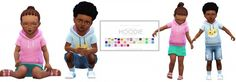 Onyx Sims: Toddler Short Sleeve Hoodie • Sims 4 Downloads