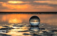 crystal sunset  - Pinned by Mak Khalaf Nature ballbeachcolourscrystallandscapelightnaturereflectionseasunsunset by bartceuppens